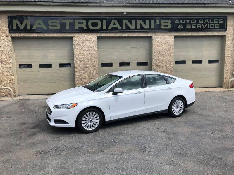 2014 Ford Fusion Hybrid for sale at Mastroianni Auto Sales in Palmer MA