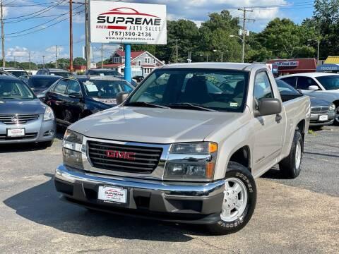2004 GMC Canyon for sale at Supreme Auto Sales in Chesapeake VA