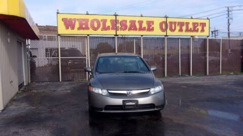 2006 Honda Civic for sale at LONG BROTHERS CAR COMPANY in Cleveland OH