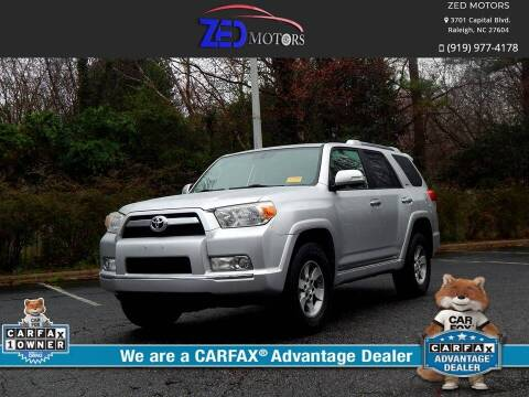 2010 Toyota 4Runner for sale at Zed Motors in Raleigh NC