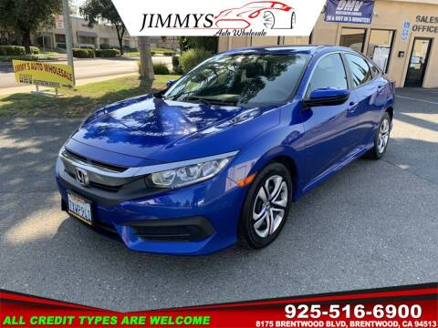 2017 Honda Civic for sale at JIMMY'S AUTO WHOLESALE in Brentwood CA
