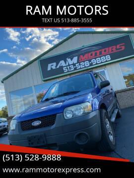 2005 Ford Escape for sale at RAM MOTORS in Cincinnati OH