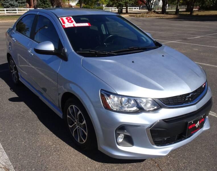 2018 Chevrolet Sonic for sale at VISTA AUTO SALES in Longmont CO