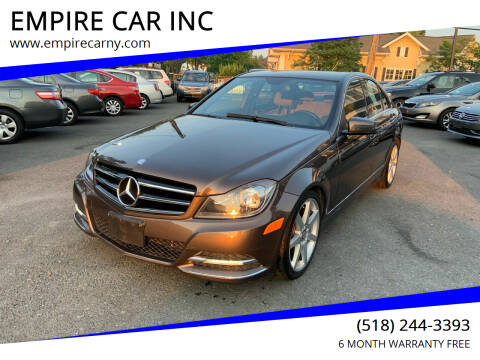 2013 Mercedes-Benz C-Class for sale at EMPIRE CAR INC in Troy NY