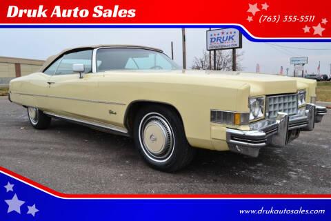 1973 Cadillac Eldorado for sale at Druk Auto Sales in Ramsey MN