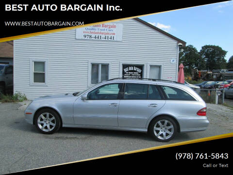 2007 Mercedes-Benz E-Class for sale at BEST AUTO BARGAIN inc. in Lowell MA