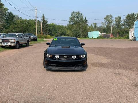 2012 Ford Mustang for sale at WB Auto Sales LLC in Barnum MN