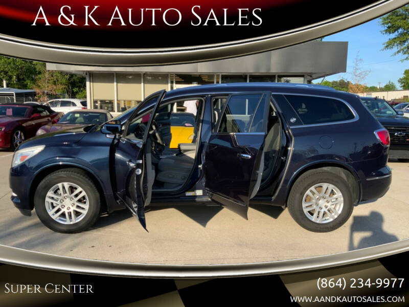 2015 Buick Enclave for sale at A & K Auto Sales in Mauldin SC