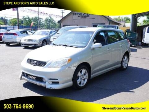 2003 Toyota Matrix for sale at Steve & Sons Auto Sales in Happy Valley OR