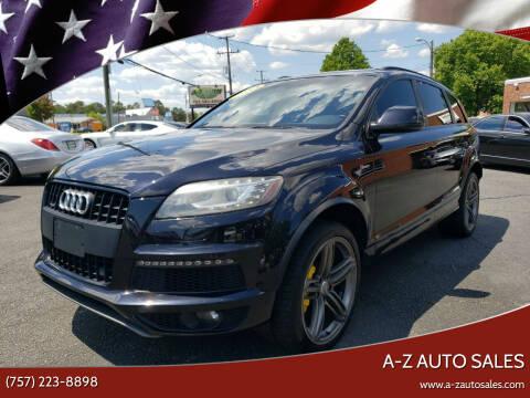 2014 Audi Q7 for sale at A-Z Auto Sales in Newport News VA