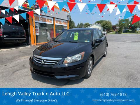 2012 Honda Accord for sale at Lehigh Valley Truck n Auto LLC. in Schnecksville PA