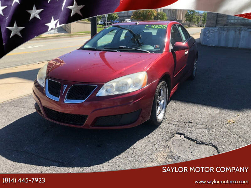 2010 Pontiac G6 for sale at Saylor Motor Company in Somerset PA