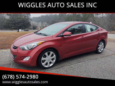 2013 Hyundai Elantra for sale at WIGGLES AUTO SALES INC in Mableton GA