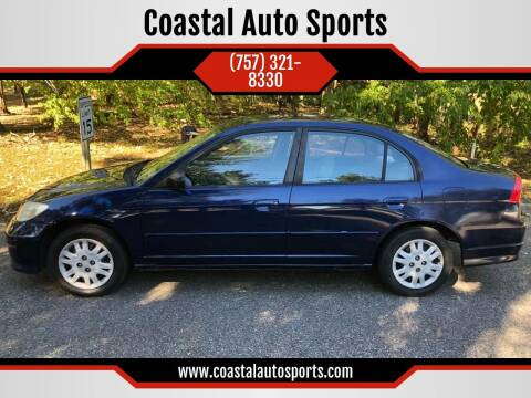 2005 Honda Civic for sale at Coastal Auto Sports in Chesapeake VA