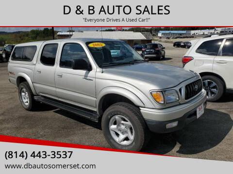 2002 Toyota Tacoma for sale at D & B AUTO SALES in Somerset PA