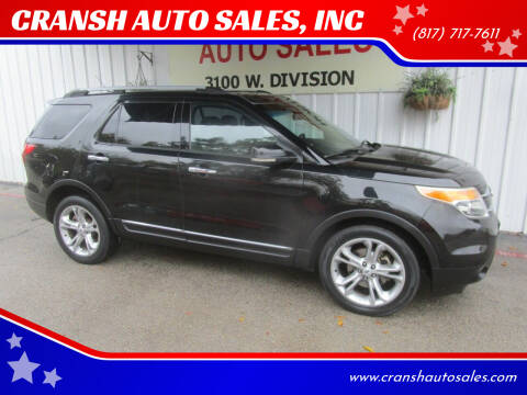2013 Ford Explorer for sale at CRANSH AUTO SALES, INC in Arlington TX