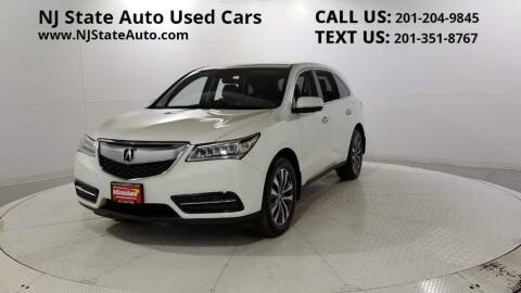 2016 Acura MDX for sale at NJ State Auto Auction in Jersey City NJ