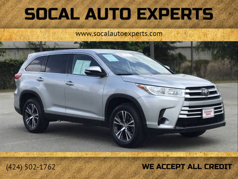 2019 Toyota Highlander for sale at SoCal Auto Experts in Culver City CA