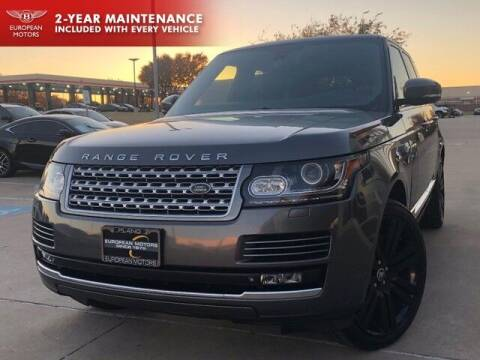 2015 Land Rover Range Rover for sale at European Motors Inc in Plano TX