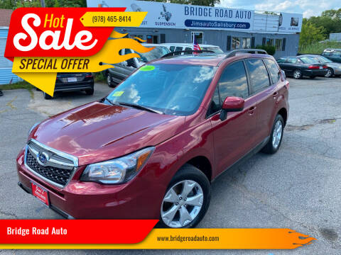 2016 Subaru Forester for sale at Bridge Road Auto in Salisbury MA