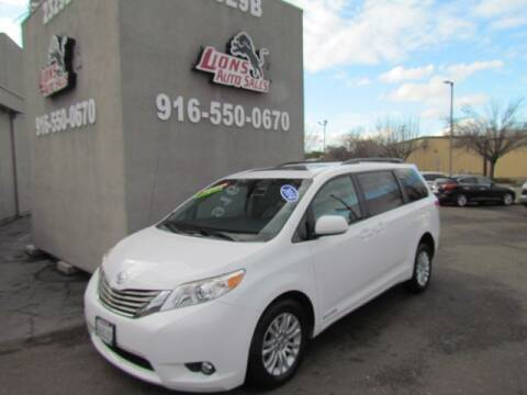 2014 Toyota Sienna for sale at LIONS AUTO SALES in Sacramento CA