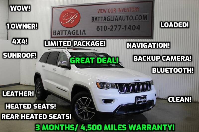2018 Jeep Grand Cherokee for sale at Battaglia Auto Sales in Plymouth Meeting PA