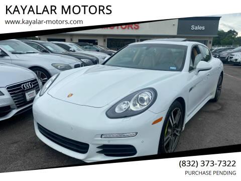2015 Porsche Panamera for sale at KAYALAR MOTORS in Houston TX