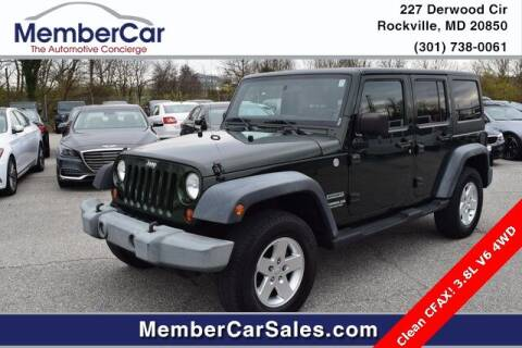 2011 Jeep Wrangler Unlimited for sale at MemberCar in Rockville MD