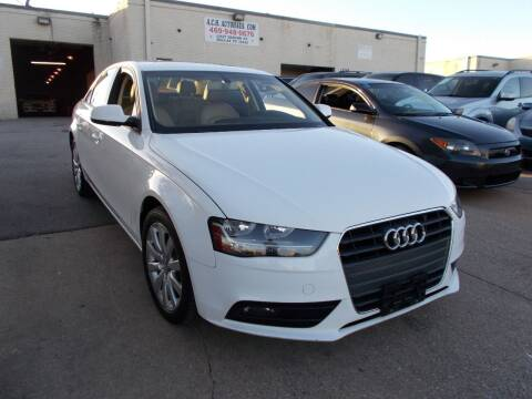 2014 Audi A4 for sale at ACH AutoHaus in Dallas TX