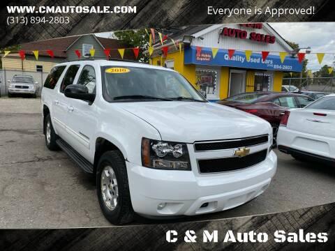 2010 Chevrolet Suburban for sale at C & M Auto Sales in Detroit MI