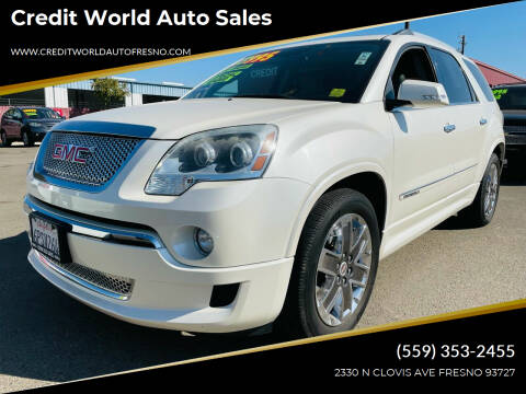 2011 GMC Acadia for sale at Credit World Auto Sales in Fresno CA