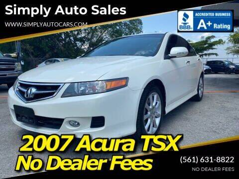 2007 Acura TSX for sale at Simply Auto Sales in Palm Beach Gardens FL