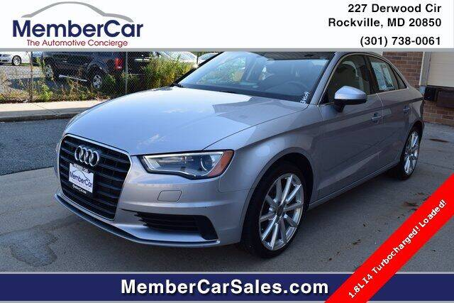 2015 Audi A3 for sale at MemberCar in Rockville MD