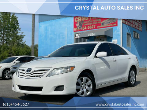 2010 Toyota Camry for sale at Crystal Auto Sales Inc in Nashville TN