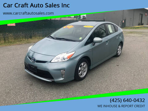 2013 Toyota Prius for sale at Car Craft Auto Sales Inc in Lynnwood WA
