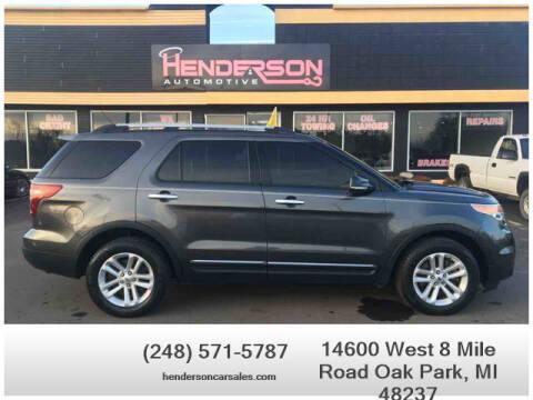 2015 Ford Explorer for sale at Henderson Automotive, LLC in Oak Park MI