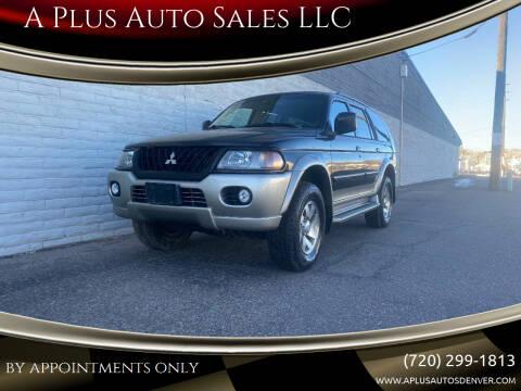 2002 Mitsubishi Montero Sport for sale at A Plus Auto Sales LLC in Denver CO