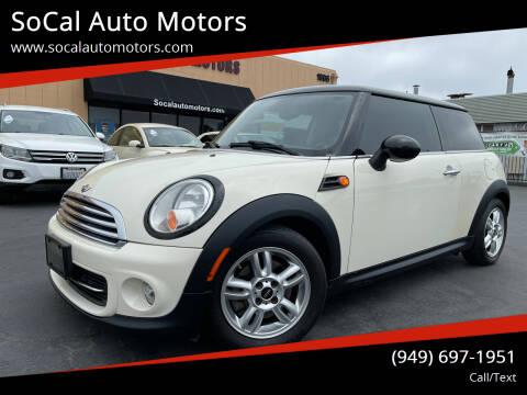 2013 MINI Hardtop for sale at SoCal Auto Motors in Costa Mesa CA