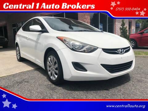 2011 Hyundai Elantra for sale at Central 1 Auto Brokers in Virginia Beach VA