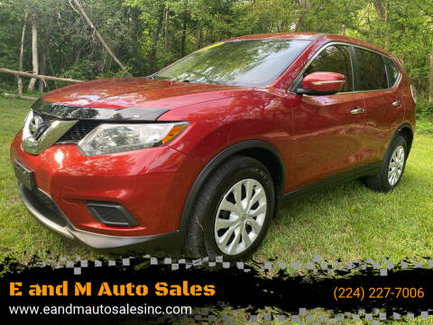 2015 Nissan Rogue for sale at E and M Auto Sales in Elgin IL