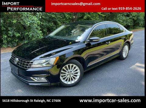 2016 Volkswagen Passat for sale at Import Performance Sales in Raleigh NC