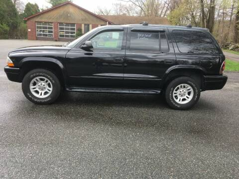 2003 Dodge Durango for sale at Lou Rivers Used Cars in Palmer MA