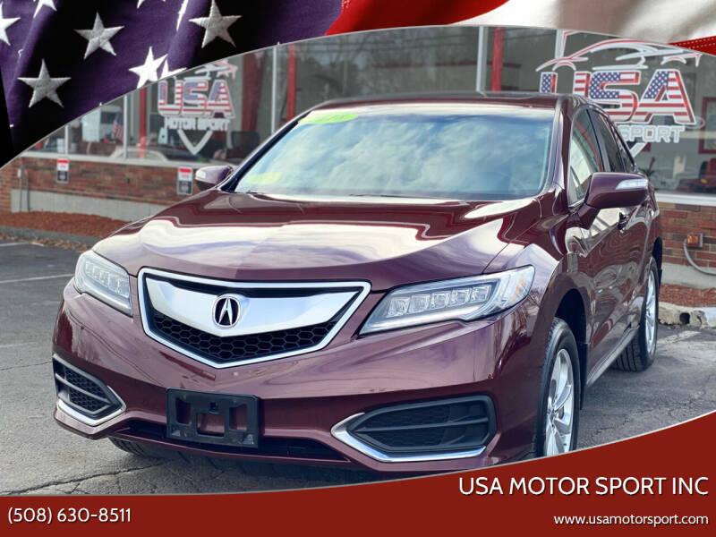 2018 Acura RDX for sale at USA Motor Sport inc in Marlborough MA