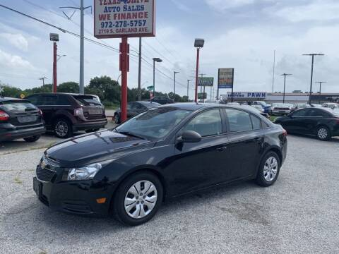 2014 Chevrolet Cruze for sale at Texas Drive LLC in Garland TX