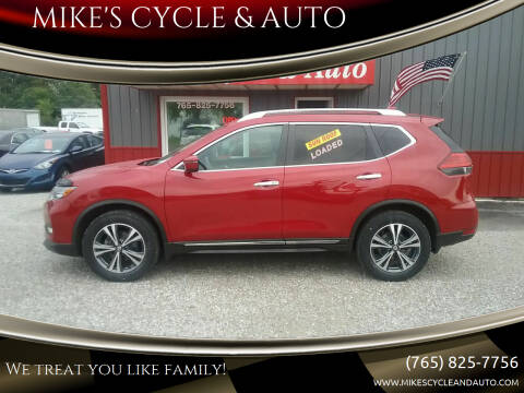 2017 Nissan Rogue for sale at MIKE'S CYCLE & AUTO in Connersville IN