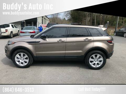 2017 Land Rover Range Rover Evoque for sale at Buddy's Auto Inc in Pendleton SC