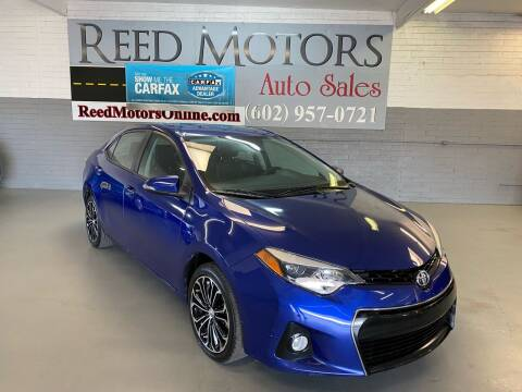2016 Toyota Corolla for sale at REED MOTORS LLC in Phoenix AZ