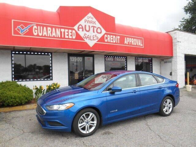 2018 Ford Fusion Hybrid for sale at Oak Park Auto Sales in Oak Park MI