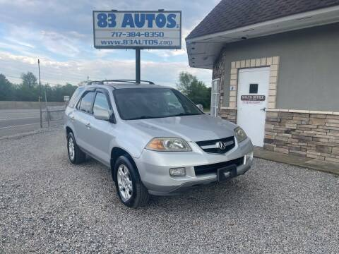 2004 Acura MDX for sale at 83 Autos in York PA