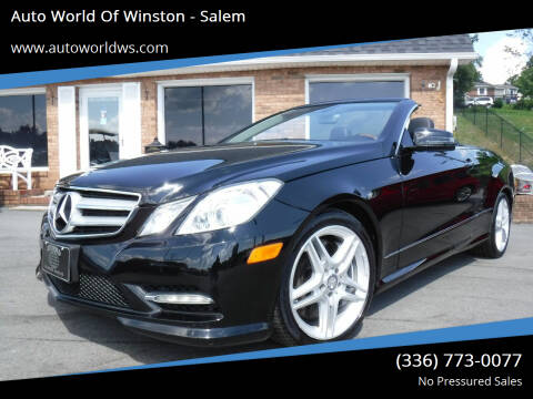 2013 Mercedes-Benz E-Class for sale at Auto World Of Winston - Salem in Winston Salem NC